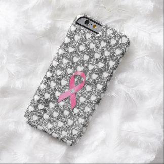 Olhar cor-de-rosa do brilho da prata da fita de capa barely there para iPhone 6