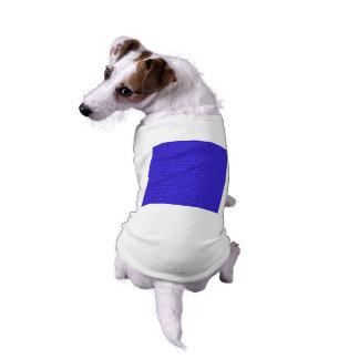 Olhar da malha do Weave dos azuis marinhos Camisa Sem Mangas Para Cachorro