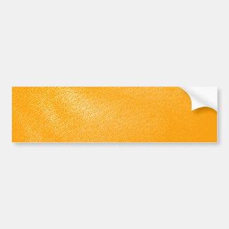Olhar de couro alaranjado brilhante adesivo para carro