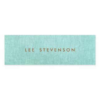 Olhar de linho claro do azul de turquesa cartão de visita skinny