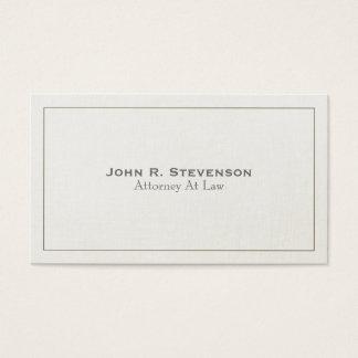 Olhar de linho macio do advogado clássico cartão de visitas