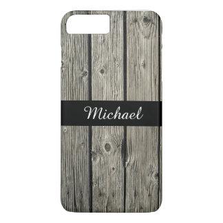 Olhar de madeira resistido rústico velho capa iPhone 8 plus/7 plus