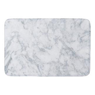 Olhar de mármore branco elegante tapete de banheiro