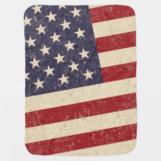 Olhar do Grunge da bandeira americana do estilo do Cobertores De Bebe