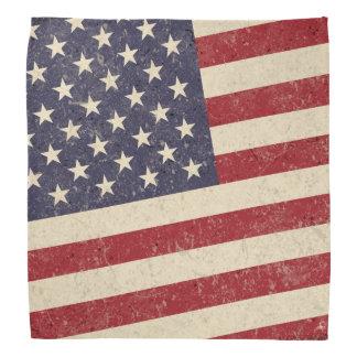 Olhar do Grunge da bandeira americana do estilo do Lenço
