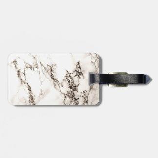 Olhar do mármore de Brown Etiqueta De Bagagem