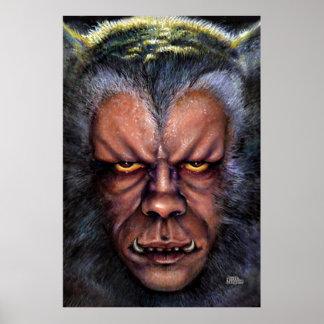 Olhar fixo do homem-lobo