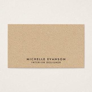 Olhar mínimo simples de Tan Kraft rústico Cartão De Visitas