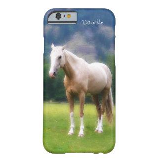 Olhar pintado do Palomino cavalo macio sonhador Capa Barely There Para iPhone 6