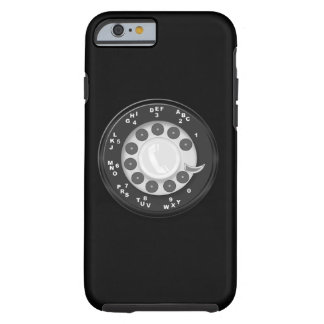 Olhar retro do seletor giratório capa tough para iPhone 6