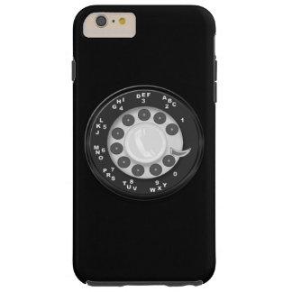 Olhar retro do seletor giratório capa tough para iPhone 6 plus
