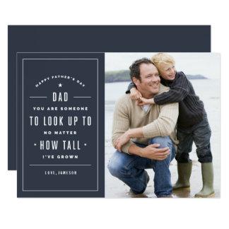 Olhe acima ao cartão do dia dos pais convite 12.7 x 17.78cm