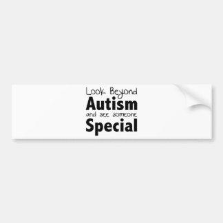 Olhe além do autismo e veja alguém especial adesivo para carro