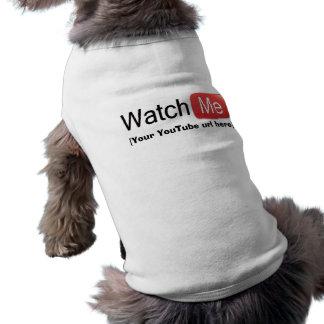 Olhe-me em YouTube (básico) Camisa Sem Mangas Para Cachorro