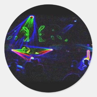 Olhe O DJ girar etiquetas Adesivo