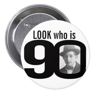 Olhe quem é botão preto e branco/crachá de 90 foto bóton redondo 7.62cm