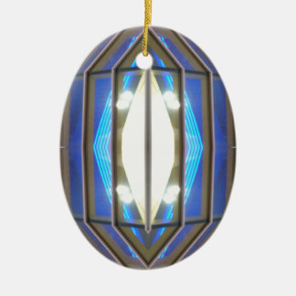 Olho 7 do robô - produtos da arte do SciFi de Ornamento De Cerâmica Oval