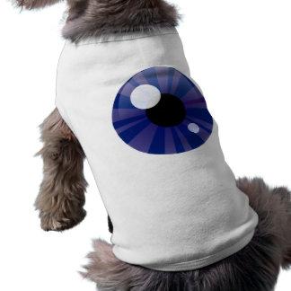 Olho azul escuro camisa sem mangas para cachorro