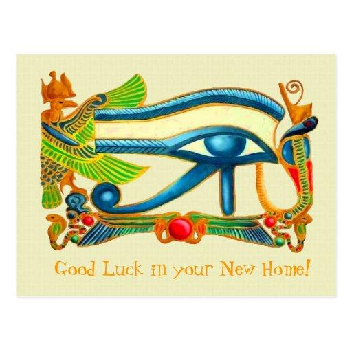 Olho do cartão da boa sorte de Horus Cartao Postal