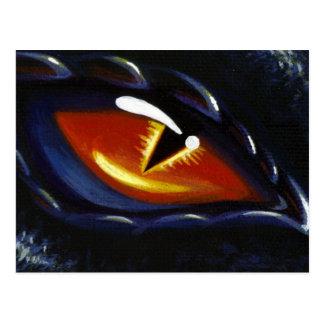 Olho do cobalto cartão postal
