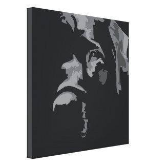 Olhos com alma pretos de Labrador Impressão Em Tela Canvas