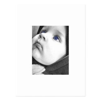 Olhos da criança cartão postal
