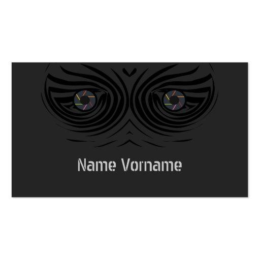 Olhos de fotografia cartões de visita
