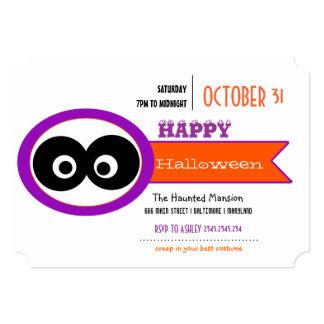 Olhos grandes engraçados o Dia das Bruxas feliz Convites