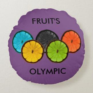 Olímpico dos Frutos Almofada Redonda