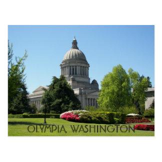 Olympia, foto do viagem do estado de Washington Cartão Postal