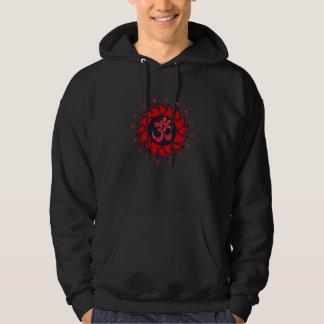 OM e Pinwheel vermelho - camisola da ioga Moletom