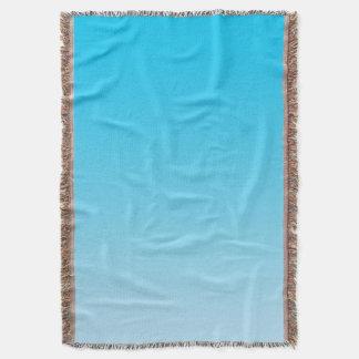 Ombre azul manta
