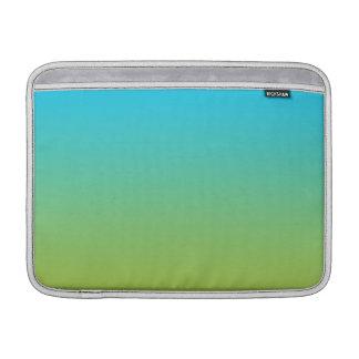 Ombre azul & verde bolsa de MacBook air