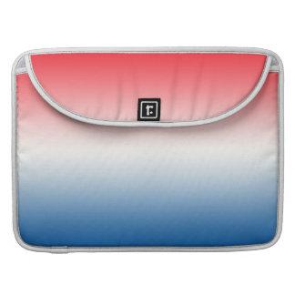 Ombre branco & azul vermelho bolsa MacBook pro