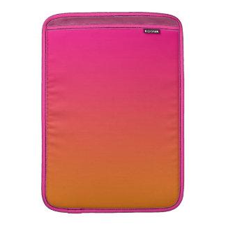 Ombre cor-de-rosa & alaranjado bolsas para MacBook air