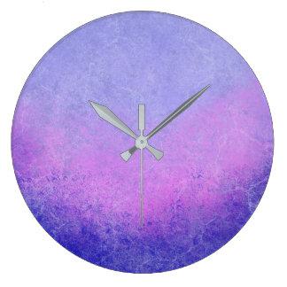 Ombre roxo Textured Relógio Grande