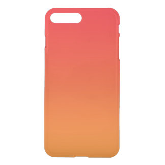 Ombre vermelho & alaranjado capa iPhone 7 plus