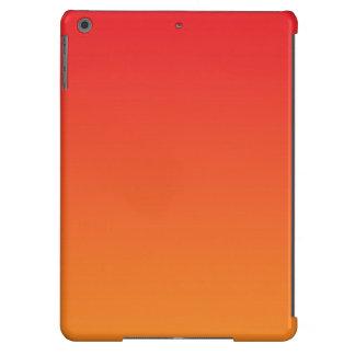 Ombre vermelho & alaranjado capa para iPad air