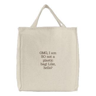 OMG, eu não sou ASSIM um saco de plástico! Como, o Bolsa