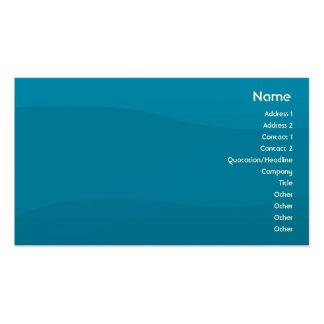 Onda azul - negócio cartão de visita