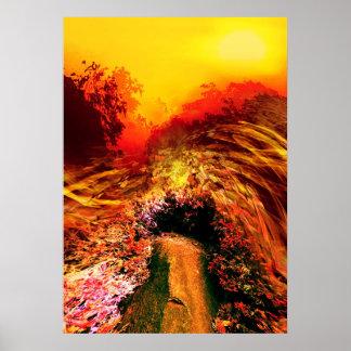 Onda das paisagens/planeta novo/Suntime Poster