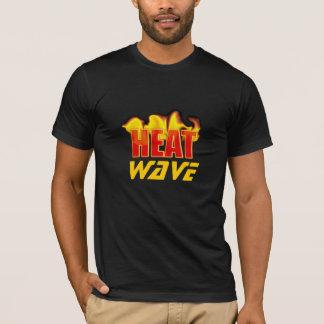Onda de calor com a camisa quente das chamas T