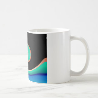 Onda de cobre caneca de café