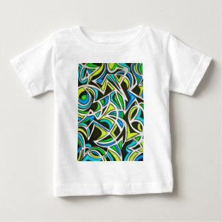 Onda de oceano - arte abstracta pintado mão t-shirts
