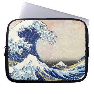 Onda japonesa da arte de Hokusai Bolsa E Capa De Notebook