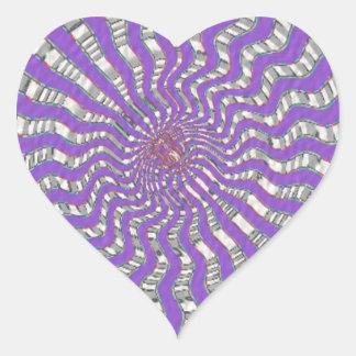 Onda ROXA de Chakra - estilo da assinatura de Navi Adesivo Em Forma De Coração