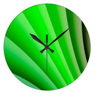 Onda verde da arte abstracta relógio grande