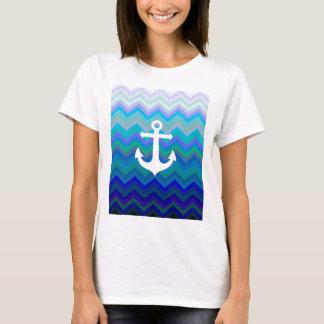 Ondas & âncora camiseta