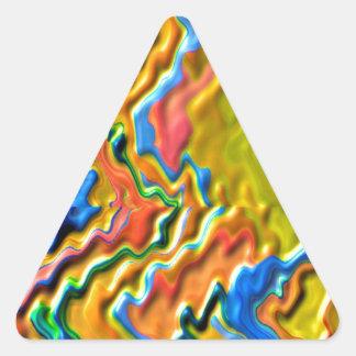Ondas canadenses do OURO Adesivos Triângulo