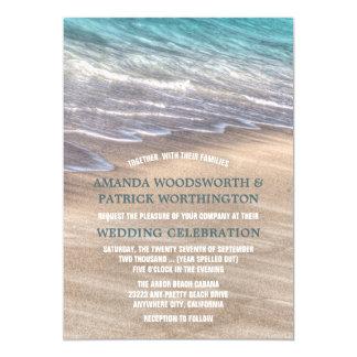 Ondas da praia do vintage e convites do casamento